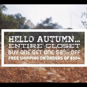 Entire Closet: buy one get one 50% off